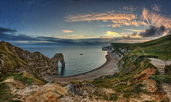 24.2011 - Durdle Door - Sunset (Pawel Tomaszewicz) Tags: door sunset sky clouds sunrise coast bravo dorset hdr durdle jurrasic durdledoor