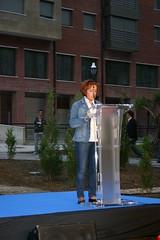 X. Aniversario del asesinato de Migue Angel Blanco. 1ª intervención de la ermuara Edurne Lejardi