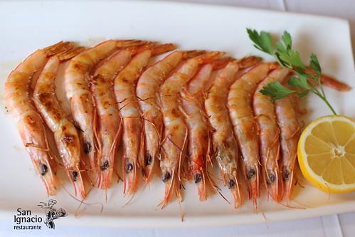 Gambas de Huelva en Restaurante San Ignacio
