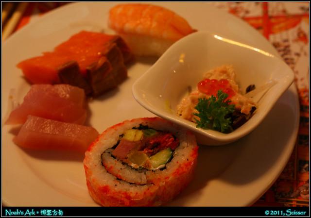 花壽司、握壽司、龍蝦鮭魚卵