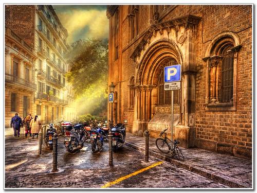 Postal desde El Borne de Barcelona