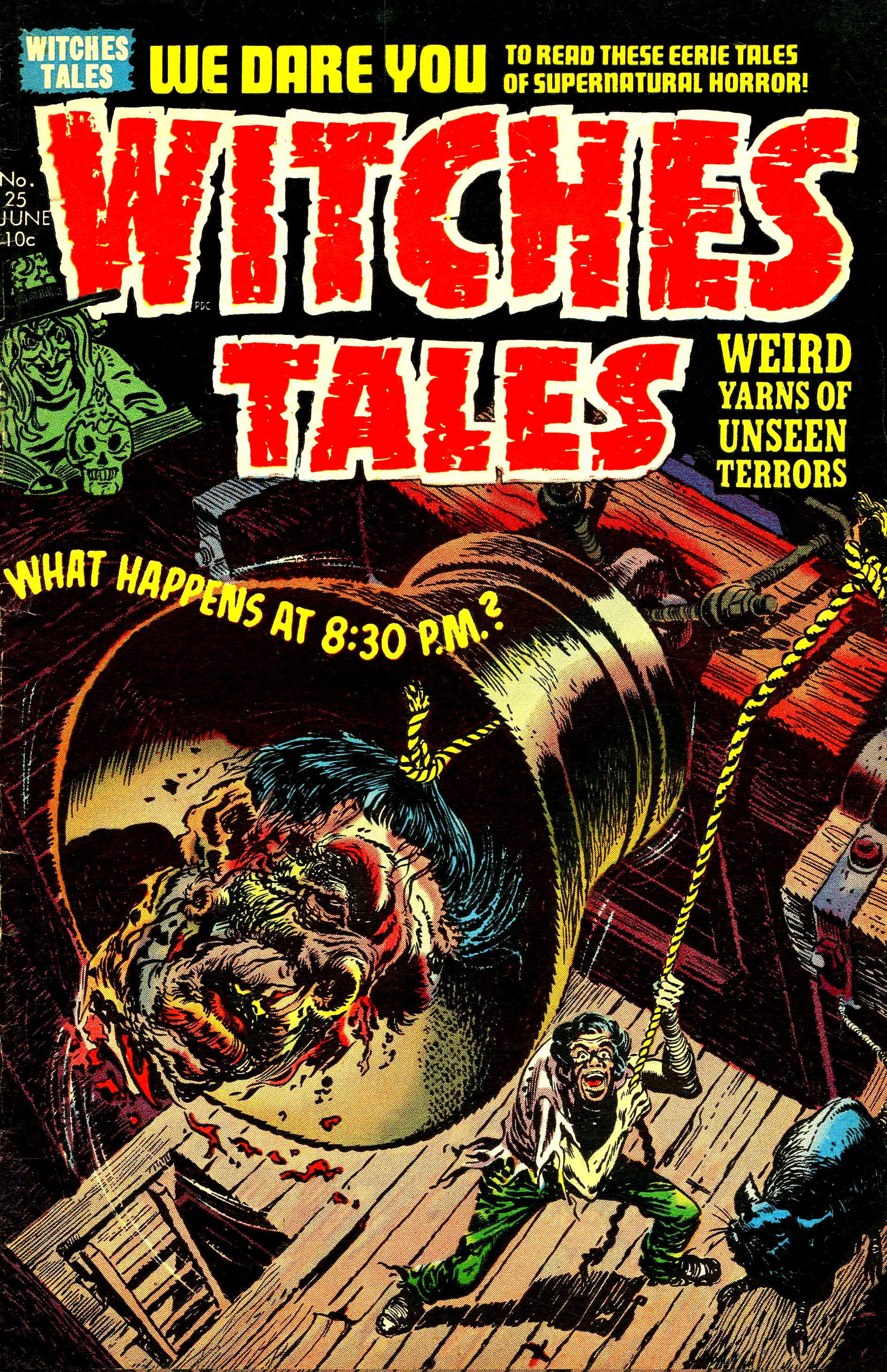 Witches Tales #25, Warren Kremer Cover (Harvey, 1954)