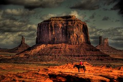 Dramatic Monument  Valley [Explored] (Yohsuke_NIKON_Japan) Tags: red wild arizona horse usa west nature rock clouds america utah nationalpark nikon dynamic indian great nativeamerican traveling navajo monumentvalley  wildwest hdr zoomlens   18200mm uswest  photomatix  explored   merrickbutte   d3100