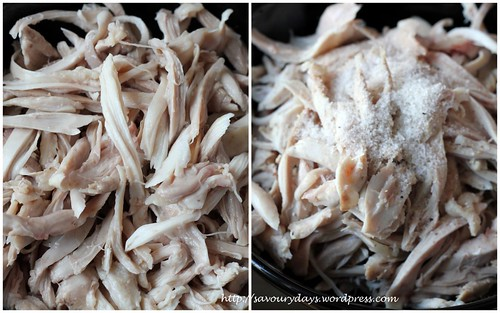 Cabbage chicken salad - method 1