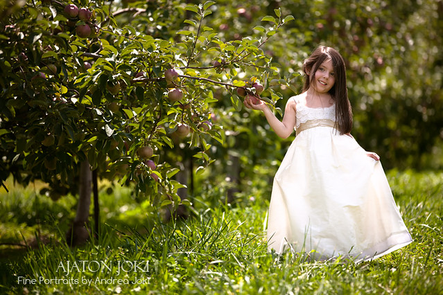 as pretty as a princess at the apple orchard in ohio