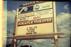 Goodbye, Miracle 5 (anmyk) Tags: plaza cinema film sign 35mm sadness closed theater florida films toycamera cine legendary historic billboard movies fl shoppingcenter tallahassee expired tally independentfilm movietheater stripmall saddened arthouse expiredfilm recession indiefilm indiefilms movetheater locallandmark miracle5 startofroll rollstart arthousetheater leoncounty trashcamera thriftstorecamera rarecamera dx3 yumeka indiemovies indepedentfilms firstshotofroll greatrecession indieflick indieflicks anomyk