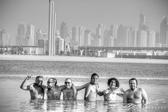 My Group :D (Bader AL-Huzaimy) Tags: beach canon dubai group uae sigma 7d 70200 jumairah