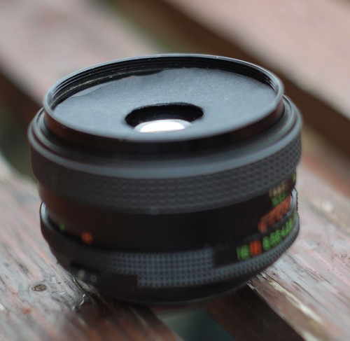 50mm M42 standard lens with new aperture at front