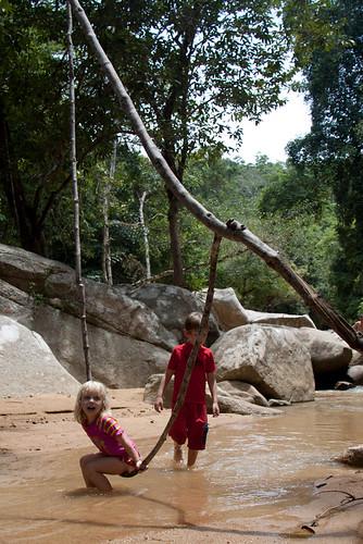 Searching for waterfalls Koh Samui