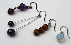 Karen Harper - Earrings in silver and gemstones - Copy