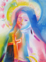 Saint Thérèse of Lisieux. 2011 by Stephen B Whatley (Stephen B. Whatley) Tags: nyc newyorkcity roses woman usa newyork art love girl lady female america mexico memorial heaven catholic peace heart god drawing anniversary faith prayer jesus 911 christian theresa expressionism twintowers wallstreet miracles santateresa charcoaldrawing graces worldpeace jesuschrist remembering pinkrose motherofgod religiousicons worldtradecentre ourlady sttheresa blueribbonwinner stthereseoflisieux sttherese 911anniversary thelittleflower bej abigfave flickrdiamond goldstaraward thesuperbmasterpiece artiststephenbwhatley theresiavonlisieux