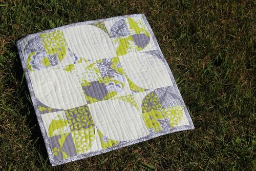 go! baby. mini quilt.