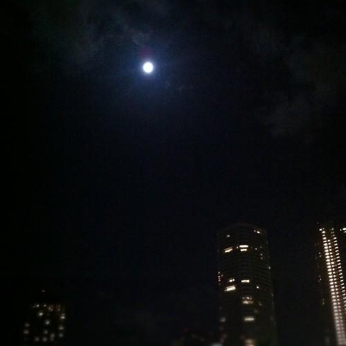 月の輝く夜@かちどき橋