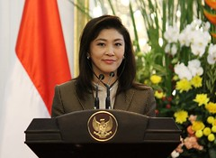 น.ส.ยิ่งลักษณ์ ชินวัตร นายกรัฐมนตรี เยือนประเทศอินโดนีเซียอย่างเป็นทางการเมื่่อวันที่ 12 กันยายน 2554 เพื่อสานสัมพันธ์ระหว่างประเทศทั้งทวิภาดีและพหุพาดี18991230202144
