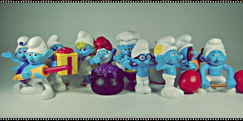 smurf figurines