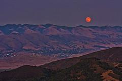 Moonrise over SLO (Beth Sargent) Tags: california sunset fullmoon hills moonrise mountians sanluisobispo caynon purfumocanyonroad