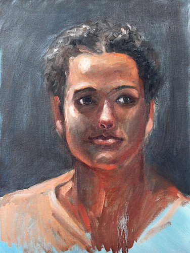 Portrait oil study by Gayle Bell
