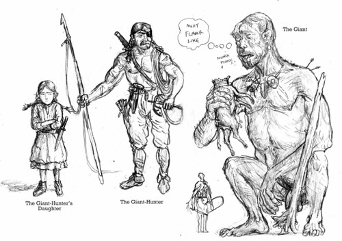Character Sketches - The Giant-Hunter