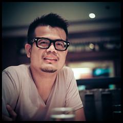 T (Lefty Jordan) Tags: hk guy 120 6x6 film t hongkong cafe day meetup kodak hasselblad planar lightroom 500cm carlzeiss 80mmf28 ektacolorpro160 terrosa