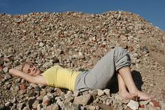 Gesa (Juliet Alpha November) Tags: blue sky cute girl beautiful rock stone sand desert jan decay blond blonde freckles stein wste braid itzehoe felsen kreis schleswig str zopf schn hbsch steinburg meifert sommerspossen