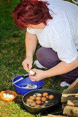 X10_8048 (neonzu1) Tags: people food woman festival vertical rural outdoors countryside hungary village cook competition eggs cookoff contestant competitor somogy eventphotography traditionaldish lecso zselic lecs bsznfa eggpeeling
