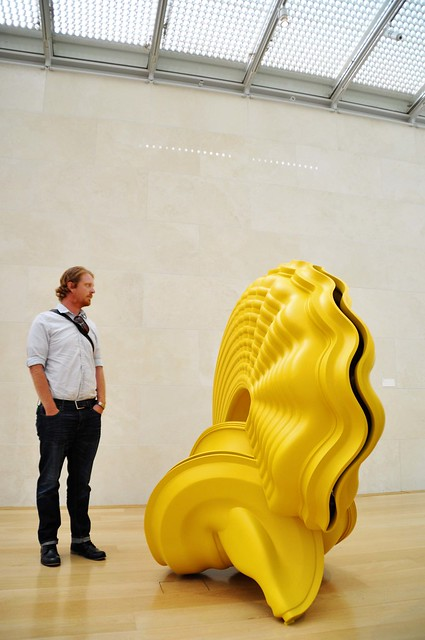 yellow sculpture