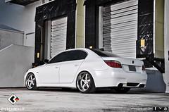 Matte White BMW E60 M5 Aero Package on K3 Projekt, Projekt 1's (K3 Projekt) Tags: white black wheels lips bmw huge rims tuning lowered forged projekt matte slammed stance k3 e90 e60 e65 bagged vossen e92 hellaflush
