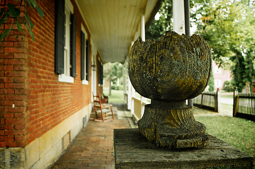 Zoar Ohio Harvest Festival 2011:  Old finial.