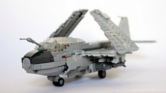 A-6E Intruder Wings Folded (Babalas Shipyards) Tags: scale lego aircraft military navy aeroplane airforce bomber a6 intruder minifigure