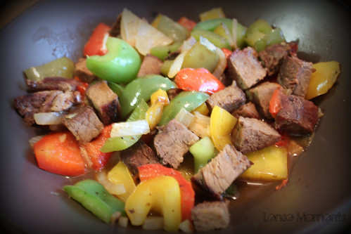Steak with Bell Pepper