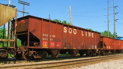 A former Soo Line hopper car in transit. Hawthorne Junction. Chicago / Cicero Illinois USA. August 2011. by Eddie from Chicago