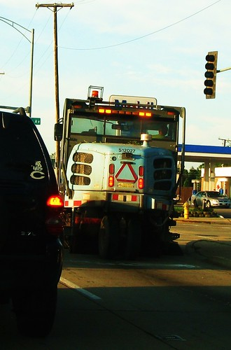 A City of Chicago Department of Streets and Sanitation Elgin street sweeper vechicle. Chicago Illinois USA. August 2011. by Eddie from Chicago