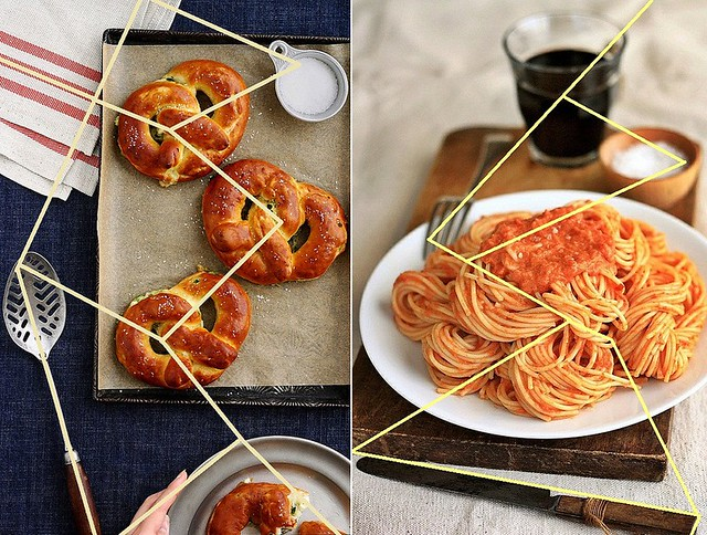 Food Photography Composition Diagram