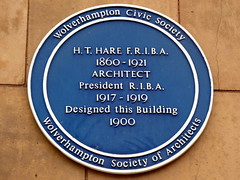 Photo of H. T. Hare blue plaque