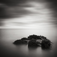 Claw (Andy Brown (mrbuk1)) Tags: ocean longexposure cloud seascape blur water rock stone square blackwhite toes horizon dream plymouth surreal minimal devon mooring simple frontpage eyelet nd110 leefilters bwfilters