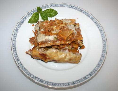 44 - Cannelloni mit Gemüse-Hack-Frischkäsefüllung - Serviert