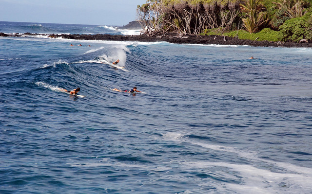 Surfers in Hilo