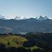 Aussicht vom Napf auf die Alpen
