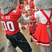 Mr. and Ms. Wuf greet their fans and sign autographs during Meet the Pack Day at Carter-Finley Stadium.