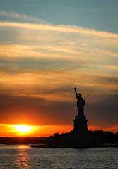 Sunset on Liberty (Jen MacNeill) Tags: newyorkcity sunset sun statue liberty evening harbor manhattan statueofliberty statenislandferry macneill dundown newcolossus canonsun gypsymarestudios jennifermacneilltraylor