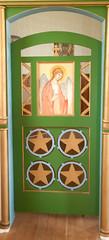 inside door wood work (NorthernMinnesotaPhoto - sweetwaterphotoonline.com) Tags: church russian orthodox mn rebuilt highway65 koochichingcounty brambel