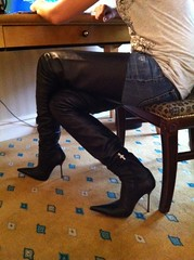 Rosina in Paris (Rosina's Heels) Tags: leather high boots thigh stiletto overknee