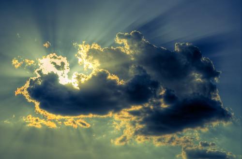 フリー写真素材, 自然・風景, 空, 雲, 日光・太陽光線,