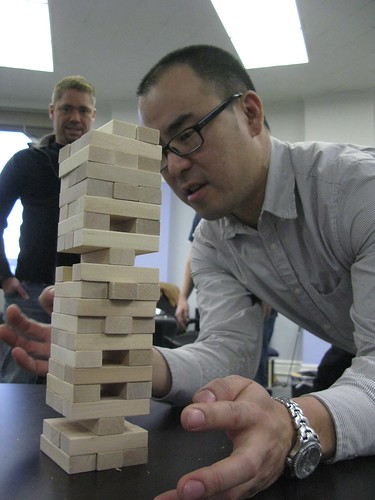 Jeff at Jenga
