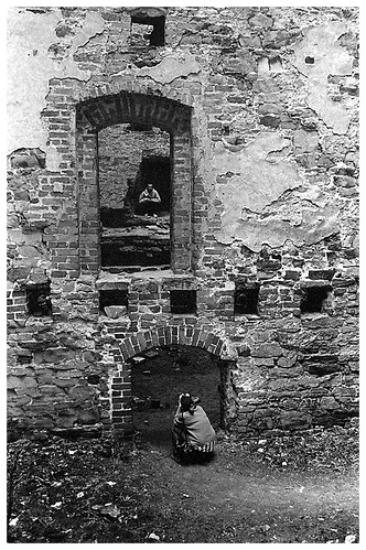 castle ruins in Drzewica, Poland