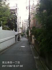 朝散歩(2011/8/16 7:25-7:45): 恵比寿西一丁目