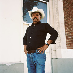 proud (susan catherine) Tags: portrait hat rolleiflex losangeles cowboy highlandpark whiskeyonhisbreath