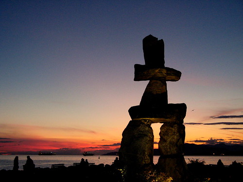 Inukshuk at Sunset, Vancouver