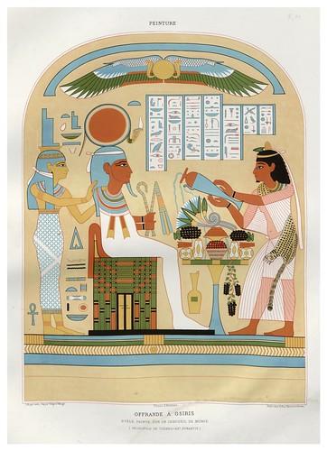 006-Ofrenda a Osiris estela pintada sobre un ataud-Tebas dinastia XX-Histoire de l'art égyptien 1878- Achille Constant Théodore Émile