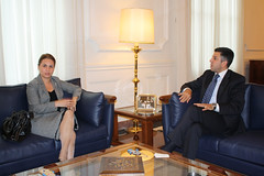 UfMS Secretary General Ahmad Masa'deh receives Romanian Ambassador in the UfMS Headquarters (ahmadmasadeh) Tags: ahmad masadeh